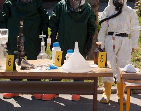 illegal: illegal drug laboratory  Stock Photo