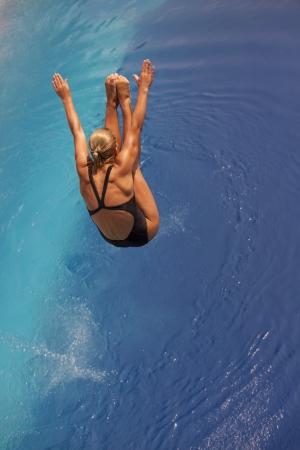 free diver: diving board jump