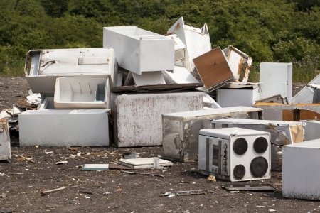 recycling center: appliances at the landfill