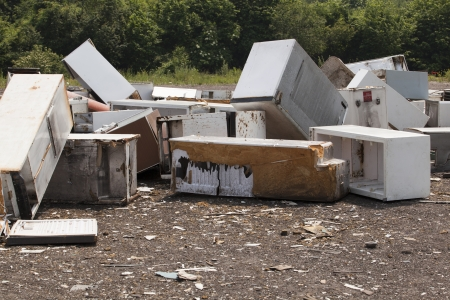 old appliances at the landfill  photo