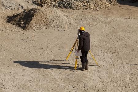 land surveyor: land surveyor Stock Photo