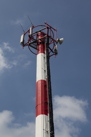 relay: Antena GSM Foto de archivo
