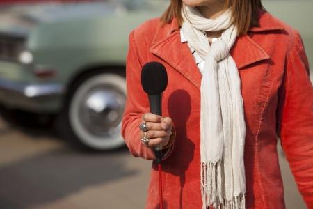 reporter Stock Photo