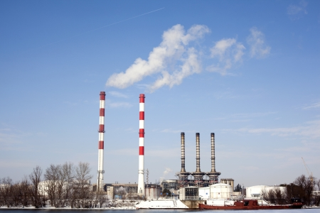 dioxido de carbono: la contaminación del aire Foto de archivo