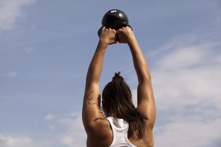 CrossFit kettlebell swing Stock fotó