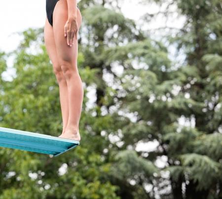 springboard: buzo en el trampol�n