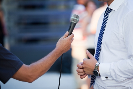 interview with a businessman Stock Photo