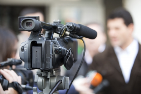 covering an event with a video camera Stock Photo - 19297874