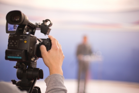 Abdecken einer Veranstaltung mit einer Videokamera