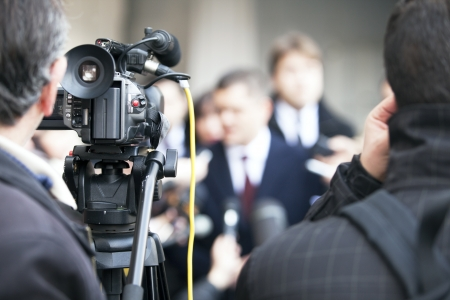 live action: tv broadcasting Stock Photo