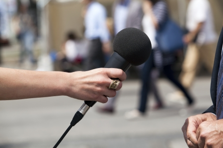 comments: microphone - media interview