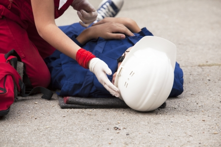 working: first aid training detail
