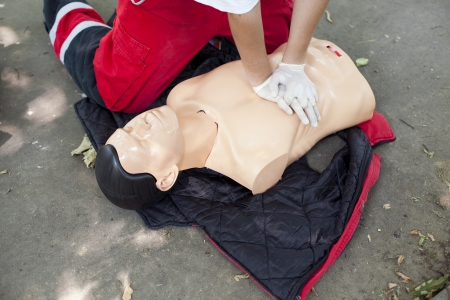 first aid - heart massage photo