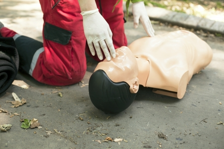 CPR training detail photo