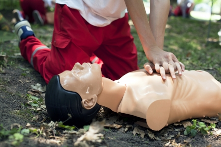 heart massage - first aid photo