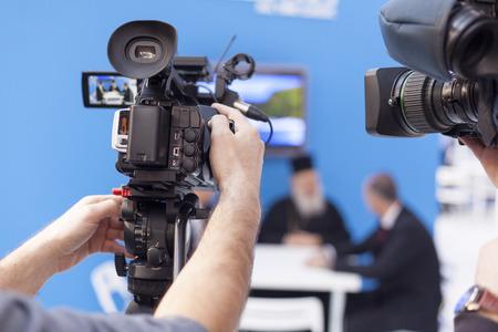 Aufnahmeereignis mit professionellen Video-Kamera Standard-Bild