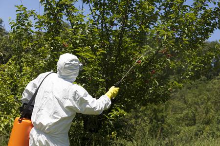 La pulvérisation de pesticides
