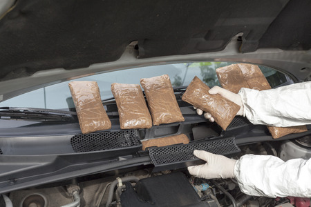 engine compartment: Drug smuggled in a car s engine compartment