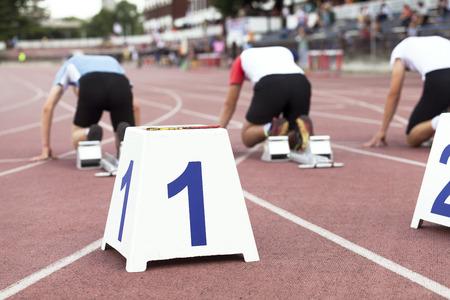athletics track: Sprint start