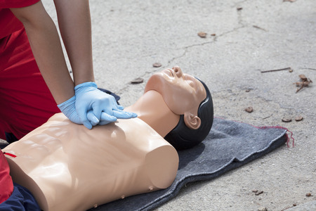 Cardiopulmonary resuscitation - CPR Stock Photo