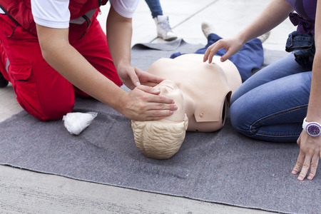 First aid training detail Stok Fotoğraf - 33454582