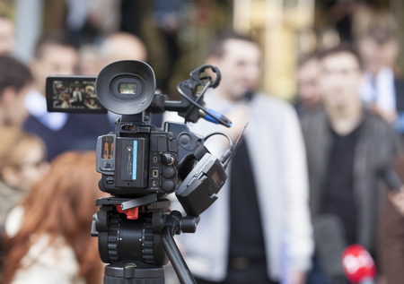Covering an event with a video camera Banque d'images