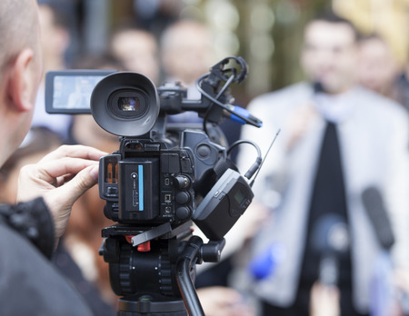 spokesman: Media scrum. Impromptu press conference.