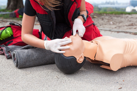 Cardiopulmonary resuscitation (CPR) training detail