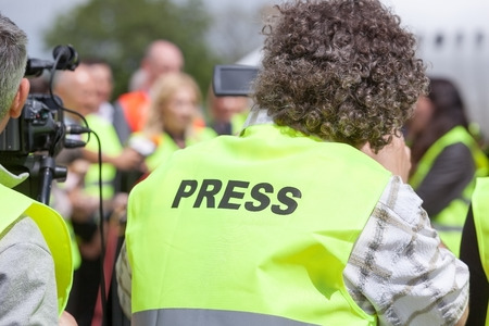 media event: Covering an media event with a video camera