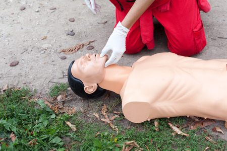 resuscitation: First aid training detail. Cardiopulmonary Resuscitation - CPR.