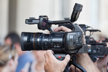 camara de cine: C?ra de video Foto de archivo