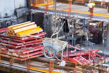 infraestructura: Obra de construcción Foto de archivo