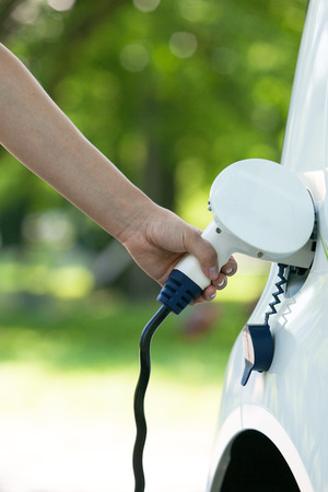 Charging battery of an electric car Standard-Bild
