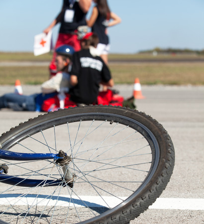 victims: First aid after bike accident