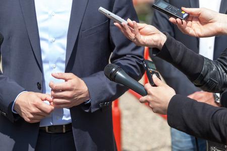 spokesperson: Media interview. News conference.