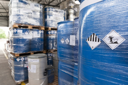Environmental hazard barrels Standard-Bild