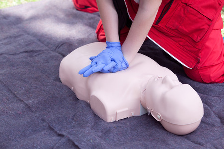 chest compression: Cardiopulmonary resuscitation - CPR. Cardiac massage.