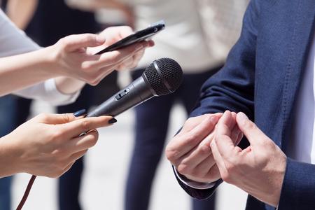 correspondent: Media interview.