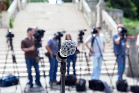 journalism: Press conference. Journalism.