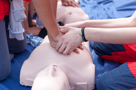chest compression: First aid training