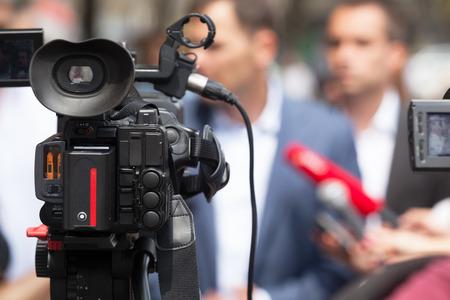 journalism: News conference. Journalism.