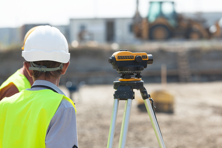 land surveying: Construction site