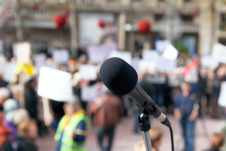 rights: Protest. Public demonstration. Stock Photo
