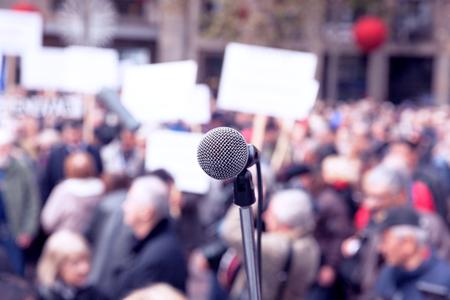 Protest. Public demonstration. Foto de archivo