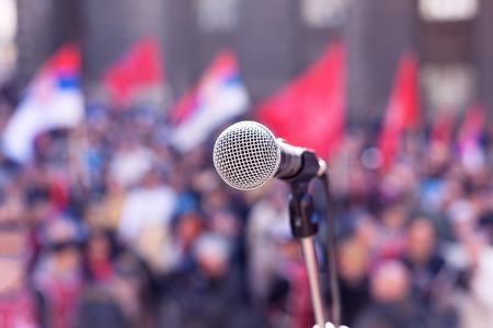 demonstration: Protest. Public demonstration. Stock Photo