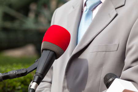 Press interview with businessman or politician
