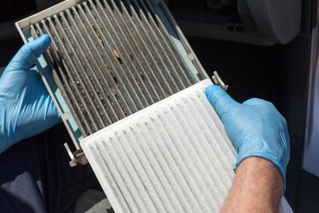 Replacing the cabin air filter