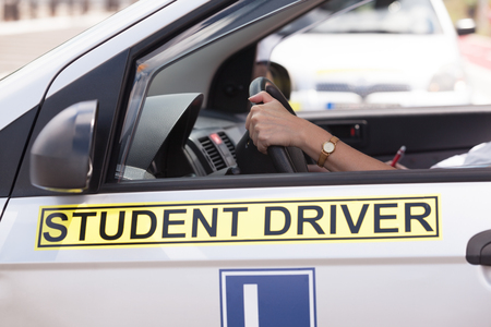 Driving education. Student driver.