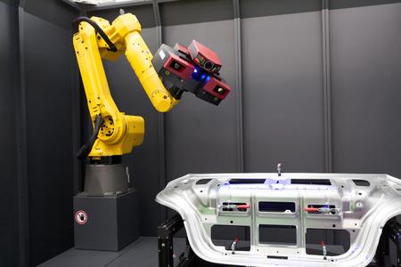 ロボット ・ アームの 3 D スキャナー。自動スキャンします。