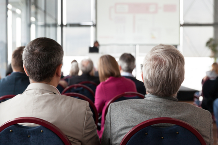 Business or professional conference. Presentation. Stock Photo
